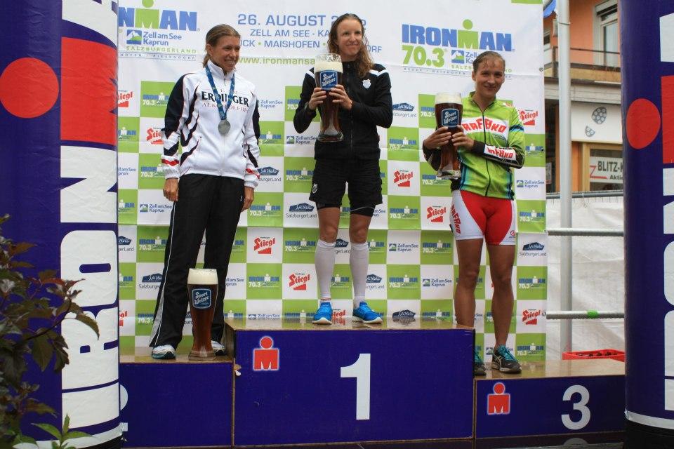 Ewa Bugdoł na podium Ironman 70.3 w Salsburgu