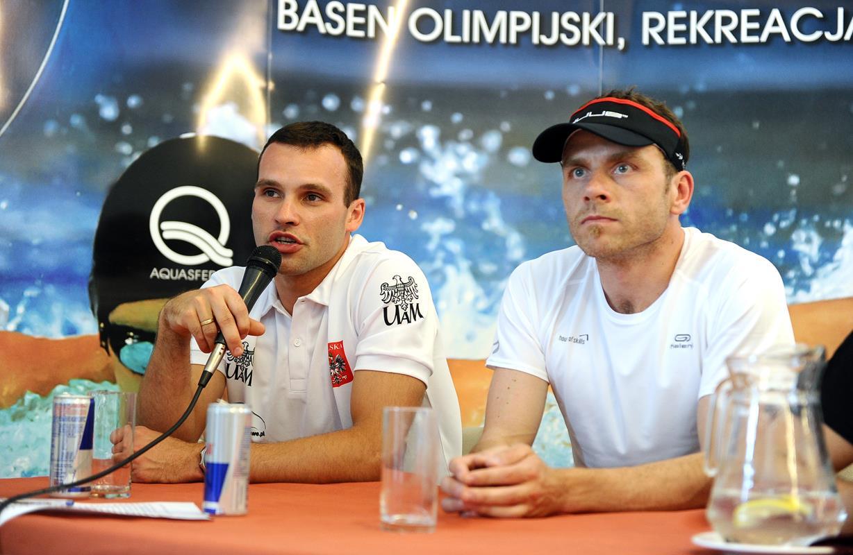 Konferencja prasowa podczas Elemental Triathlon Olsztyn